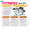 Fitness tips for busy people