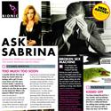 Ask Sabrina September 2010