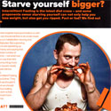 Starve yourself bigger? Maxim September 2012